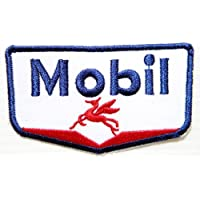 Mobil Motor Oil Gasoline station Logo Stemma Sponser Racing Biker Team Club Jacket T-Shirt Patch Sew Iron on Embroidered Badge Sign by best4buy Patch