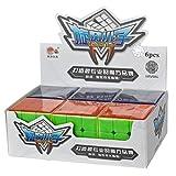 MZStech Cyclone Boys Magic Cube Juego de 6-pack 3x3x3 Cubo de velocidad clásico Cubos mágicos sin etiqueta True Color