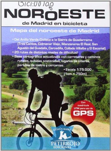 Noroeste de Madrid en bicicleta (Bicimap (petirrojo)) por Bernard Datcharry