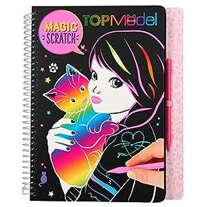 Depesche Libro para Colorear Magic Scratch 10795, de TopModel Kitty, Aprox. 18,5 x 22 x 2 cm