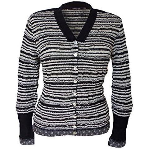 Posh Gear Mujer Alpaca stripy Cardigan 80% lana de alpaca