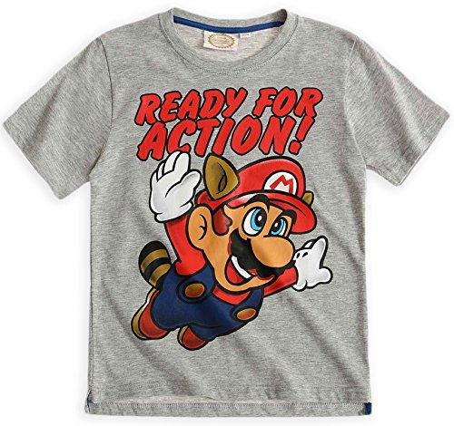 Nintendo - Camiseta de manga corta - Manga Corta - para niño Gris gri