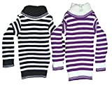 #5: Manzon Kids High Neck stripe sweater - Pack of 2