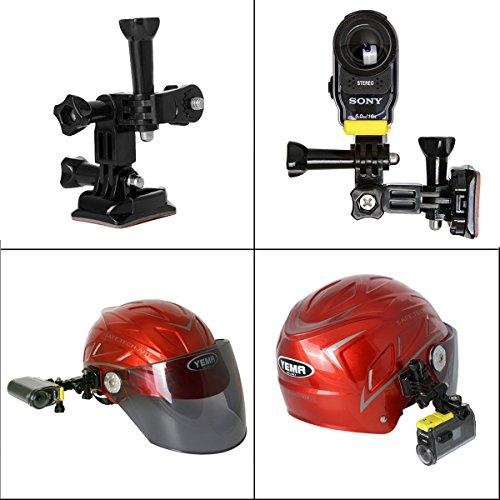 fantaseal action kamera helm halterung set f r sony. Black Bedroom Furniture Sets. Home Design Ideas