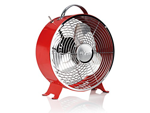 Ventilador de mesa retro Tristar VE-5963 – 25 centímetros – Rojo