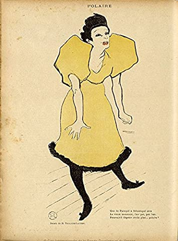Henri de Toulouse Lautrec – Plaid polaire la rire Fine Art Print Vintage, Up to 594mm by 841mm or 23.4