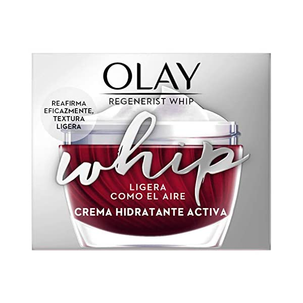 Olay Regenerist Whip Light As Air Hidratante, Crema facial con niacinamida y péptidos, 50 ml