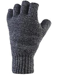 Heat Holders Mens 1 Pair 2.3 Tog Heatweaver Yarn Fingerless Gloves