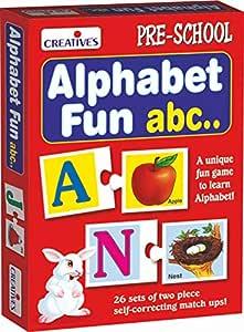 Creative Educational Aids P. Ltd. Alphabet Fun Abc Puzzle (Multi-Color, 52 Pieces)