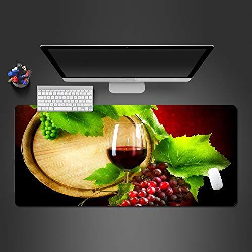 sxkdyax Atractivo Alimento y Vino Alfombrilla de Ratón Lavable PC Gaming Pad Computadora Gamer como Teclado Estera de Ratón Regalo de Navidad-90CMX40CM