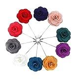 Boutonniere,Ansteckblume Handgemachte Blumen der Männer mit Geschenkbox für Anzug Zum Hochzeit Bankett Party 10packungen