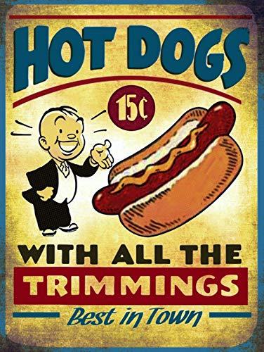 Hunnry Hot Dogs Essen Eisen Malerei Retro Personalisierte Metallkunst Wand Zeichen Kreativität Schlafzimmer Hängen Poster Artwork Bar Cafe Home Vintage Dekoration Handwerk