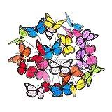 Relaxdays Mariposas Decorativas, 36 Unidades, PVC-Metal