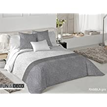 Fundeco - Funda Nórdica RAMBLA cama 135 cm - Gris