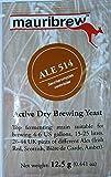 BierHefe Mauribrew - Ale 514 - Trockenhefe 12,5g - Obergärige Hefe | Ale Hefe | Homebrew | Bier brauen | Pilsner | Hefe für Bier | Trocken Bierhefe