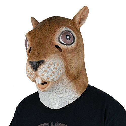 �m aus Gummi (Eichhörnchen) mit Latex Maske, von LarpGears (Scary Halloween-kostüme Für Pferde)