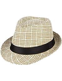 Sombrero De Paja Retro De Los Hombres Sombrero Cuadros De Jazz Especial  Estilo Sombrero De Panamá Tejido A Mano Sombrero para… 799711fe1e7