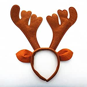 Xy fancy christmas party decoration gift brown ear antlers deer horn
