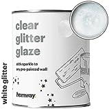 Hemway, latta da 1 l di smalto trasparente con glitter per pareti preverniciate, colore a scelta