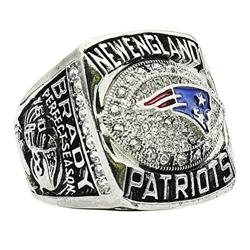 HTEGAE Mann Diamant Silber Jahr 2007 New England Patriots Meisterschafts Ringe,Size T