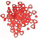 TUPARKA 80g PVC Cuore Rosso Tavolo coriandoli Cuore Rosso Scintilla coriandoli per San Valentino/Matrimonio Fornitura Fai da Te