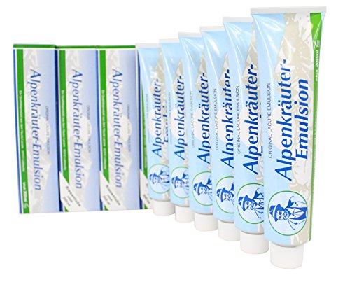 6x Alpenkräuter-Emulsion 200ml - Körper Massage Bar