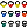 JLL® Kettlebells with Coloured Neoprene (Rubber) Covered Cast Iron Ranging From 2kg to 24kg Home Gym Fitness Exercise Kettlebell workout training 2kg, 4kg, 6kg, 8kg, 10kg, 12kg, 14kg, 16kg, 18kg, 20kg, 22kg, 24kg