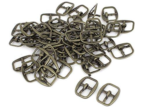sourcingmap 50 Stück die rechteckige Metallic Single Prong Pin Schuhe Center Schnallen -