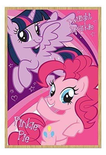 My Little Pony Twilight Sparkle und Pinkie Pie Poster Kork Pinnwand Buchenholz-Rahmen, 96,5x 66cm (ca. 96,5x 66cm)