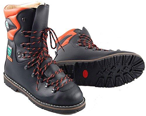 TREEME 1102 Forstschutz-Stiefel, Schwarz-orange, 40