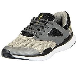 Columbus Mens Grey Black Sports Running Shoes JACKPOT-44