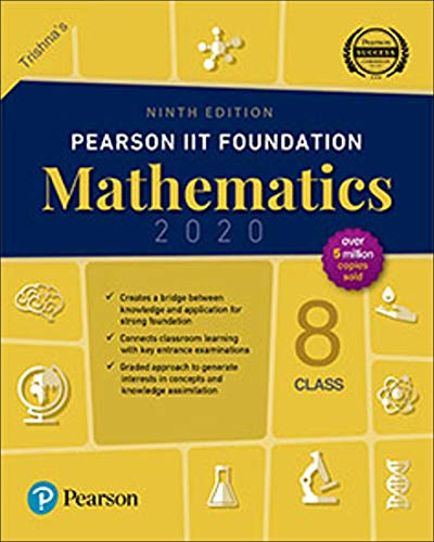 Pearson IIT Foundation Series Class 8 Mathematics|2020 Edition|By Pearson
