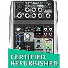 (CERTIFIED REFURBISHED) Behringer Q502USB 5-Channel Mixer