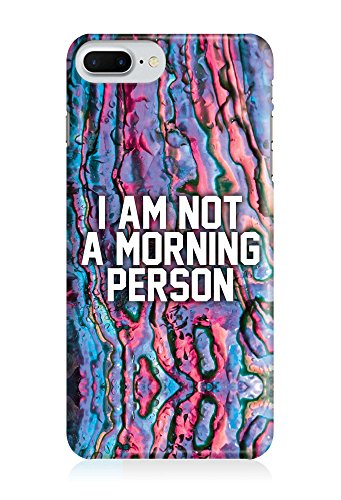 COVER Statement Spruch Quote morning person bunt Design Handy Hülle Case 3D-Druck Top-Qualität kratzfest Apple iPhone 8 Plus