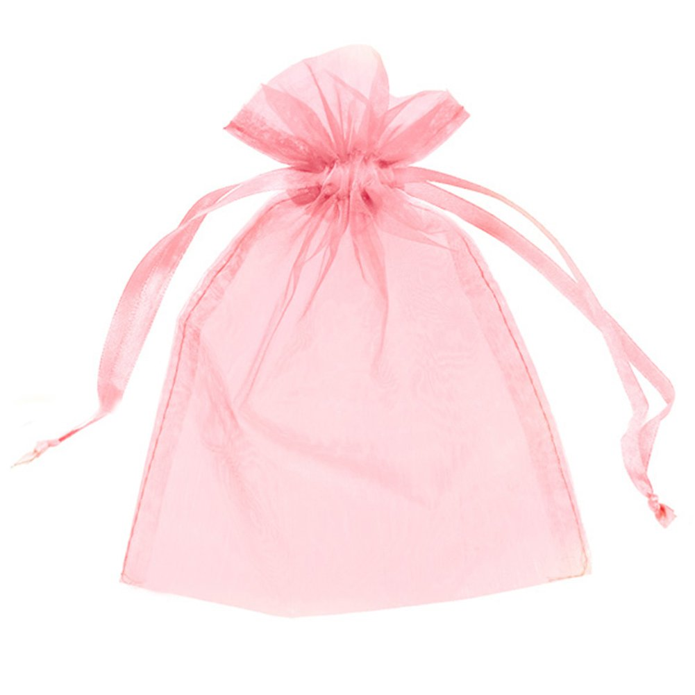 100 ORGANZA BAGS 10cm X 14cm, WEDDING FAVOUR BAGS, GIFTS ...