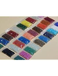 600g 25000STK Cristal Perlas de Rocailles ROCC ailles redondo 2mm 3mm 30colores No8Z22
