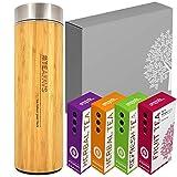 amapodo Thermobecher Tee Box Angebot, Geburtstags-Geschenk Set für Frauen Männer