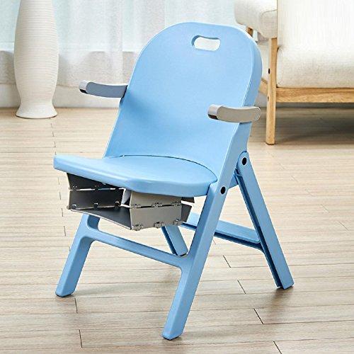 WAYMX Kunststoff-Klappschemel Stuhl verdickte Rückenlehne tragbare Outdoor-kreative Bank Hocker Erwachsenen Kinder zu Hause Stuhl , C