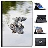 "coccodrilli & Alligatori Case Cover/portafoglio in similpelle per il Apple iPad nero Amerikanischer Alligator im Wasser Apple iPad Pro 10.5"" (2017)"