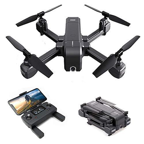 JohnnyLuLu MJX X103W FPV GPS RC Drohne mit 1080P HD Kamera, 5G WiFi FPV Echtzeit Fernbedienung Faltbarer Quadcopter mit Follow Me Altitude Hold Drone Geschenken -