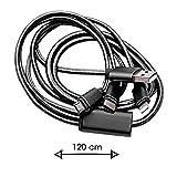 Ph26® Câble noir pour Asus Zenfone 3 Max ZC520TL-4H015WW ultra-renforcé longueur 1,20m, pour charge rapide (2.1A) et synchronisation, 3 en 1 micro USB, lightning et type C, en nylon tressé ultra résistant au pliage et à l'étirement