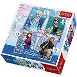 La Reine des Neiges Trefl – Disney 4 Puzzles – 35, 48, 54, 70 Pièces