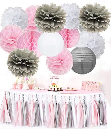 oms Deko Quaste Girlande Baby Dusche Dekoration Party Deko Deko Hochzeit Lampion Deko ()