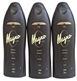 3 Bottles of Magno Shower Gel 18.3oz./550ml by Magno