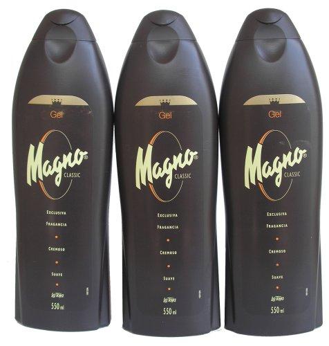 3 Bottles of Magno Sprinkle Gel 18.3oz./550ml by Magno
