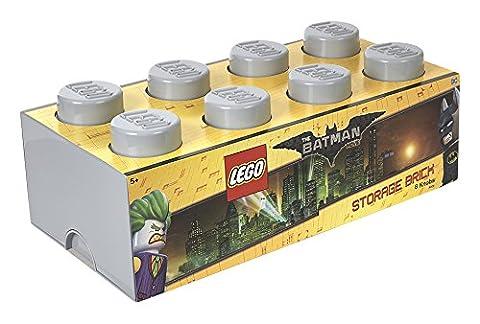 Lego Batman Brique de rangement 8boutons, empilable, boîte de rangement, gris pierre 12L, gris, Taille M