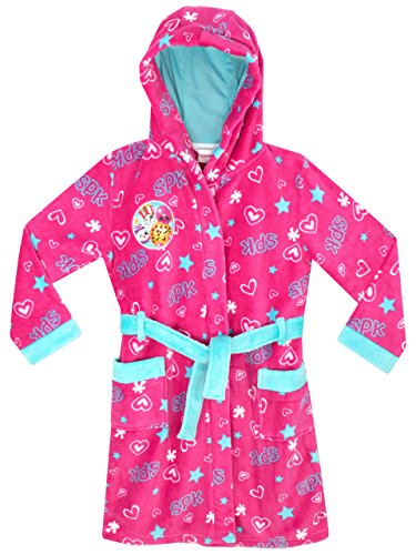 Shopkins Girls Kooky Cookie, D'lish Donut & Poppy Corn Dressing Gown Ages 4 to 13 Years