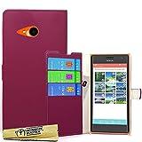 Accessory Master- Viola Custodia Libro Portafoglio in pu Pelle per Nokia Lumia N730
