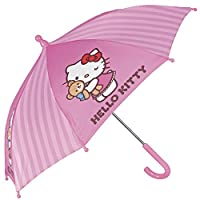 PERLETTI Hello Kitty Umbrella for Girls - Long, Windproof with Hello Kitty Prints - Wind resistant and sturdy - Manual
