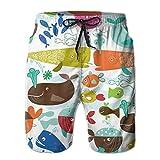 Photo de KLYDH New Children Cartoon Fish Group Men's Multi-Pocket Relaxed Beach Swim Trunks par KLYDH